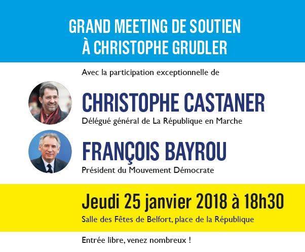 Législatives partielles 1ere circonscription Belfort _ Réunion publique