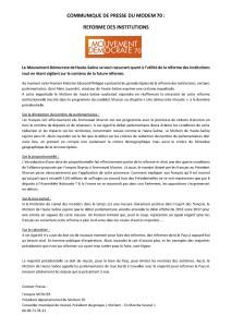 COMMUNIQUE DE PRESSE_réformeInstitutionnelle