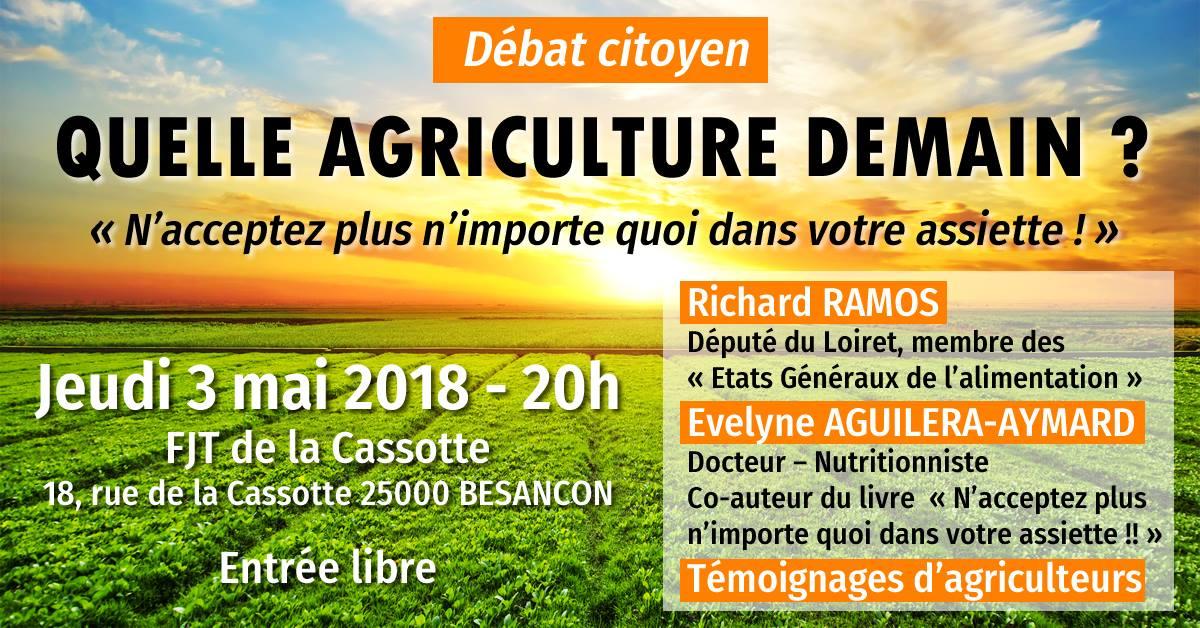 Débat citoyen le 2 mai à Besançon : Quelle Agriculture demain ?